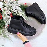 Модные высокие черные женские кроссовки кеды криперы по доступной цене, фото 10