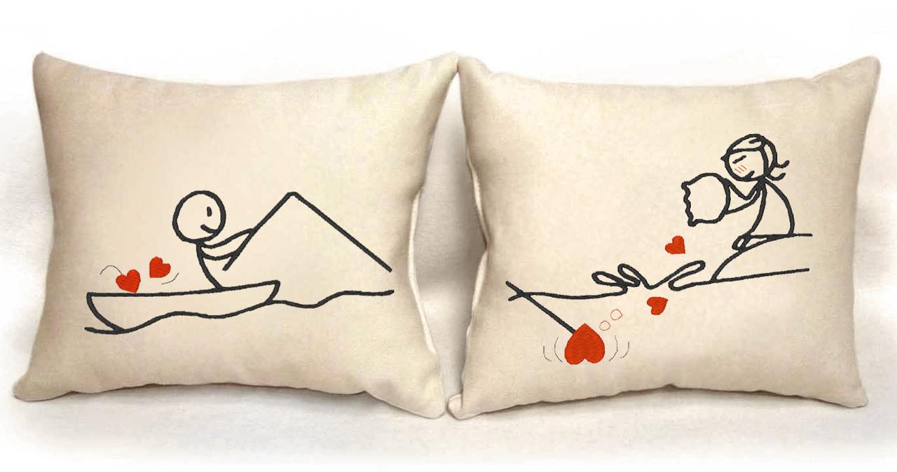 """Набор из двух подушек """"Удачная рыбалка"""""""