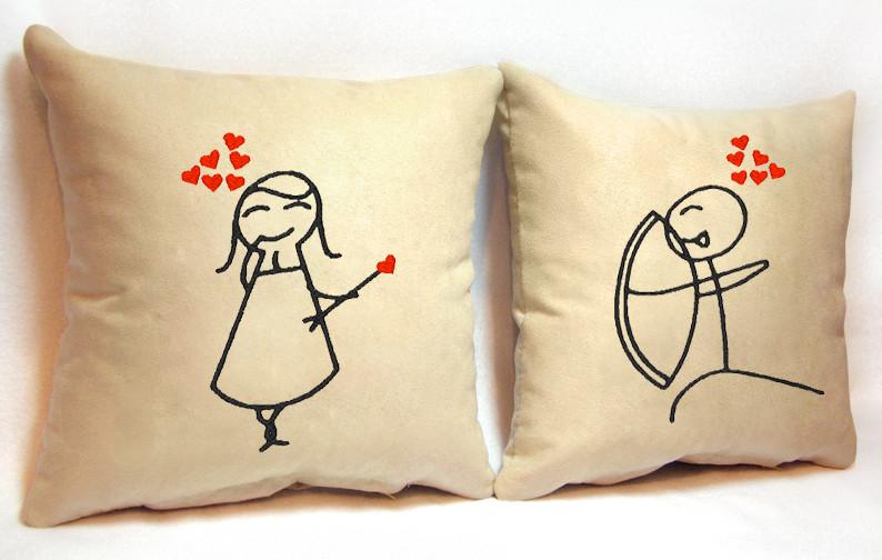"""Набір з двох подушок """"Стріла кохання"""""""