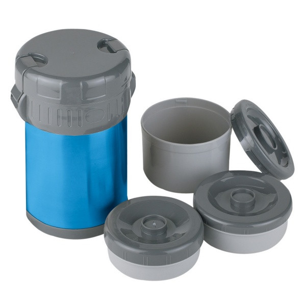 Термос Ferrino Inox Lunch Jug With 3 Containers 1.5 Lt Blue