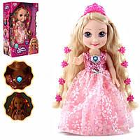 """Большая интерактивная детская кукла """"Принцесса"""" (35 см, умеет говорить, сказки, песенки) с подсветкой"""