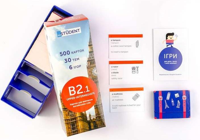 Настольная игра English Student Карточки для изучения английского языка English Student Upper-Intermediate B2.1 (39122608)