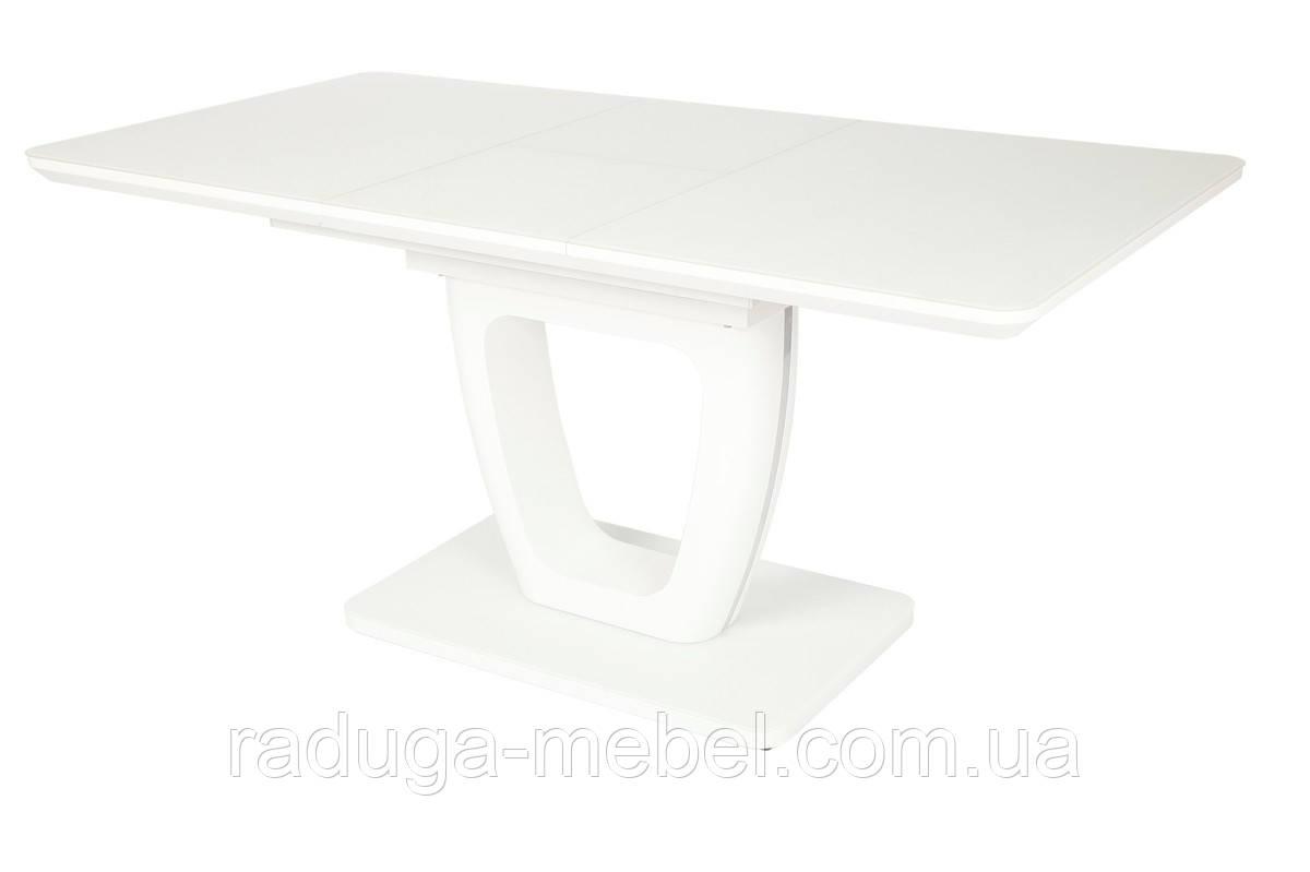 Стол МДФ+матовое стекло TML-561 белый
