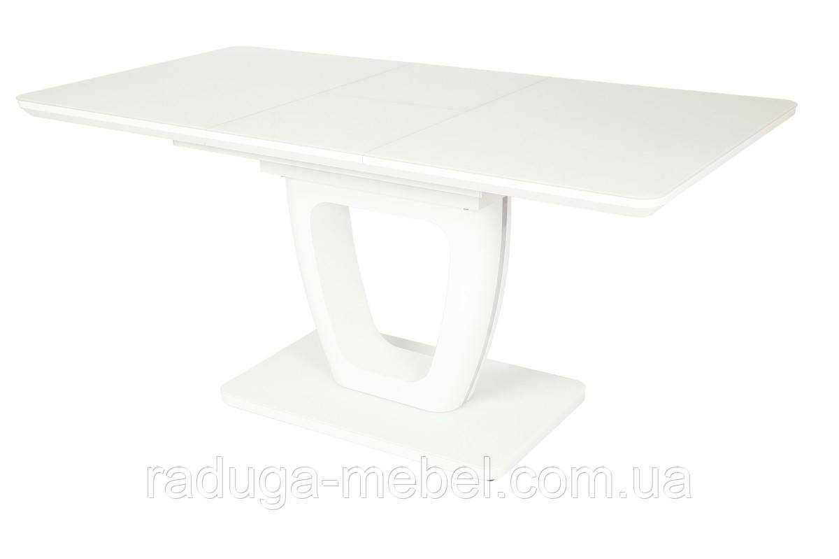 Стол МДФ+матовое стекло TML-560 белый