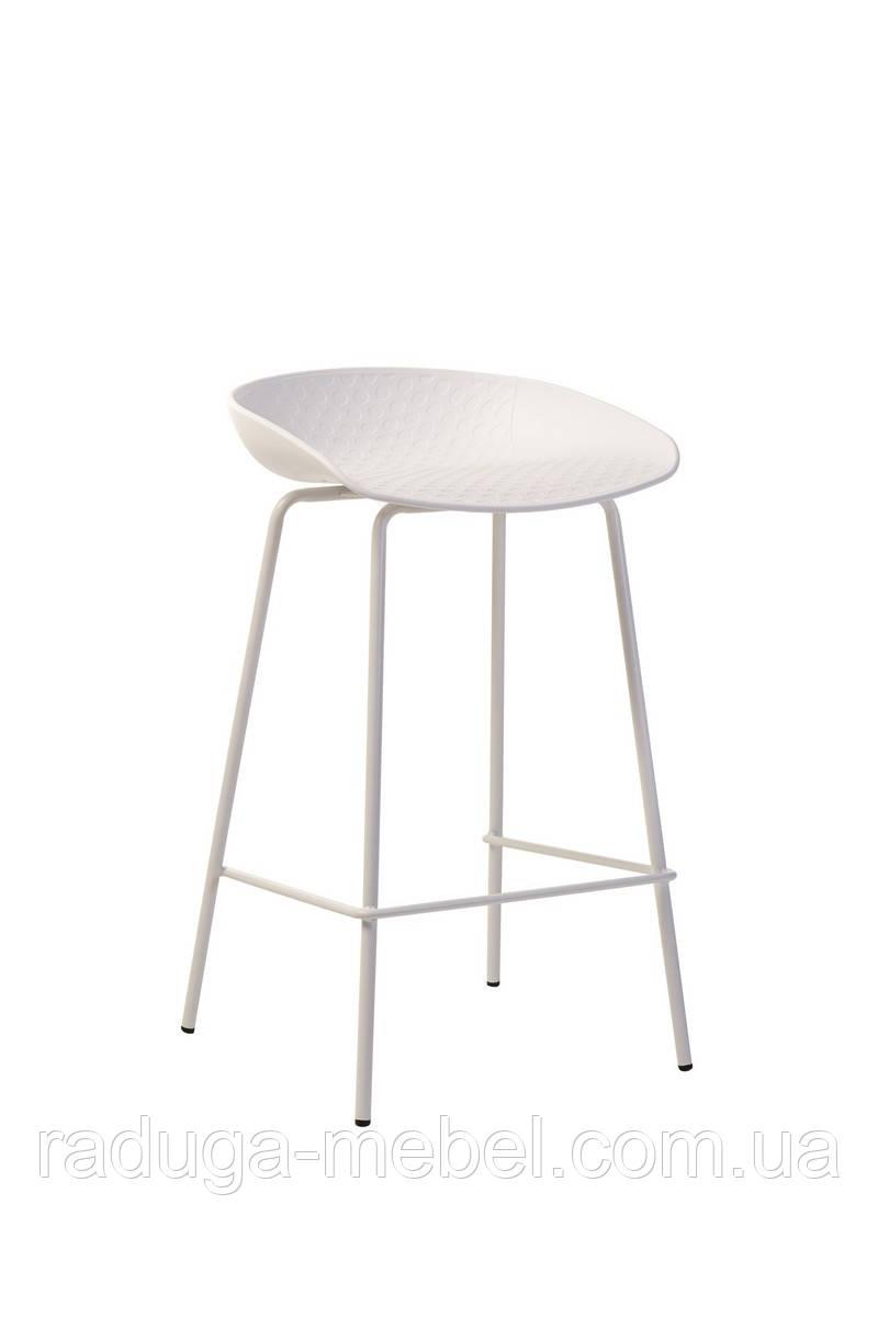 Полубарный стул B-06 белый