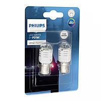 "Светодиод 12V  (цок.BA15s) P21 LED ""Philips"" (11498U30CWB2) White Ultiton Pro3000 (2шт.блист.)"