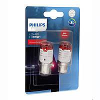 "Светодиод 12V  (цок.BA15s) P21 LED ""Philips"" (11498U30RB2) Red Ultiton Pro3000 (2шт.блист.)"