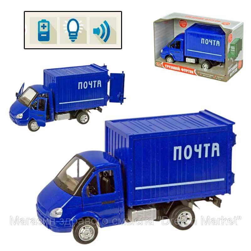 Детская Машинка для мальчиков Автопарк: Почта Play Smart грузов со светом и звуком, открывающиеся двери