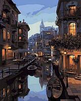 Картина рисование по номерам Mariposa Ночные каналы Венеции. Худ. Евгений Лушпин 40х50см Q1311 набор для