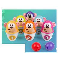 Боулинг RE333-37  кегли- обезьянки