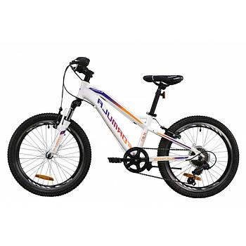 """Детский велосипед с алюминиевой рамой с передачами Formula BLACKWOOD 1.0 2020 20"""" Белый (OPS-FR-20-051)"""