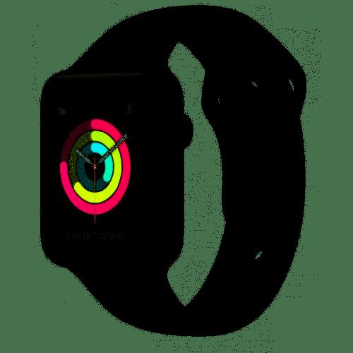 MTF02LL/A Apple Watch Series 3 38mm Space Gray Aluminum Black Sport (GPS)
