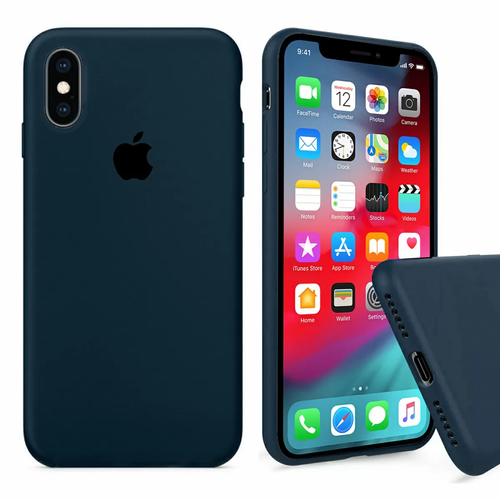 Чохол Silicone Case full cover iPhone X/Xs