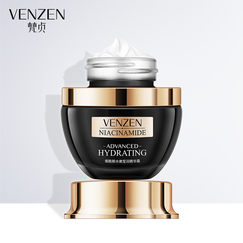 Омолоджуючий крем для обличчя з ніацинамідом Venzen Niacinamide Advanced Hydrating Essence Cream, 50г