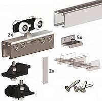 Комплект Фурнитуры Для Одной Скляной Двери До 100 Кг, Без Направляющей Valcomp 219-313