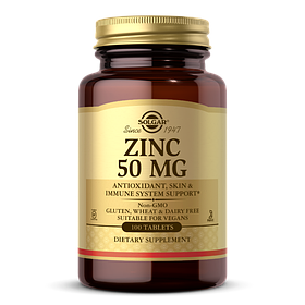 Цинк Solgar Zinc 50 mg (100 таб) солгар