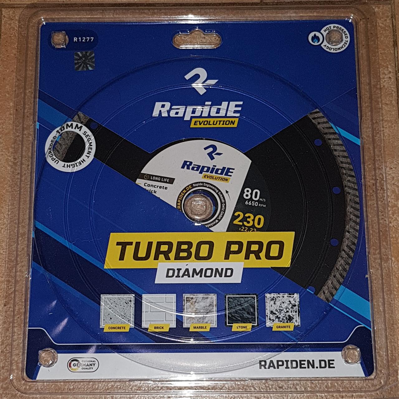 Алмазный отрезной диск RapidE 125мм*22.23