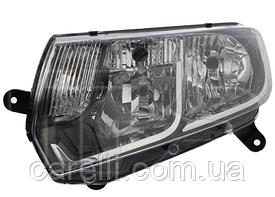 Фара левая механическая Н7+Н1 для Renault Logan/Sandero 2013-17