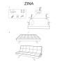 Диван раскладной ZINA серый/бук (Signal), фото 2