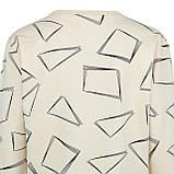 Кофта женская коттоновая бежевая, стильный весенне-осенний молодежный свитшот, фото 3