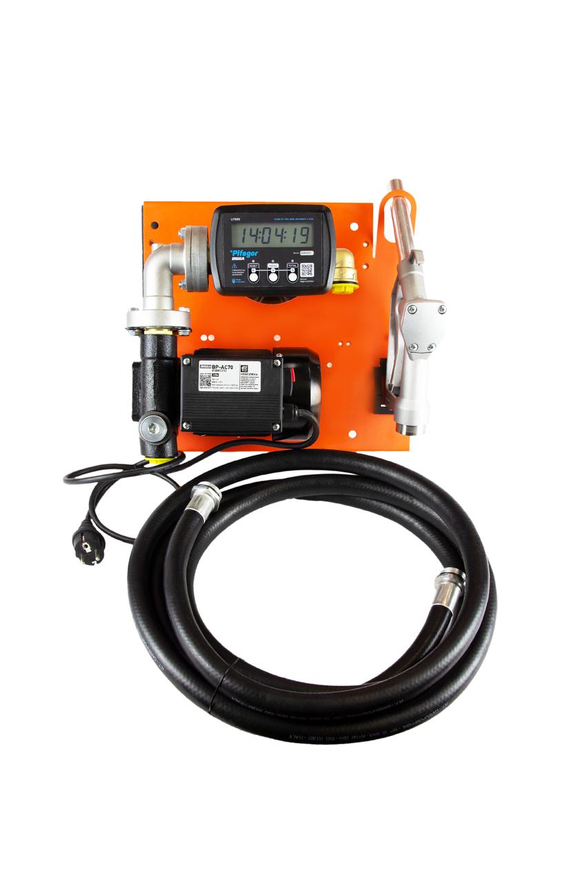 Bigga Beta AC-70 E – стационарная мини колонка для заправки техники топливом. Питания 220 В. Расход 70 л/мин