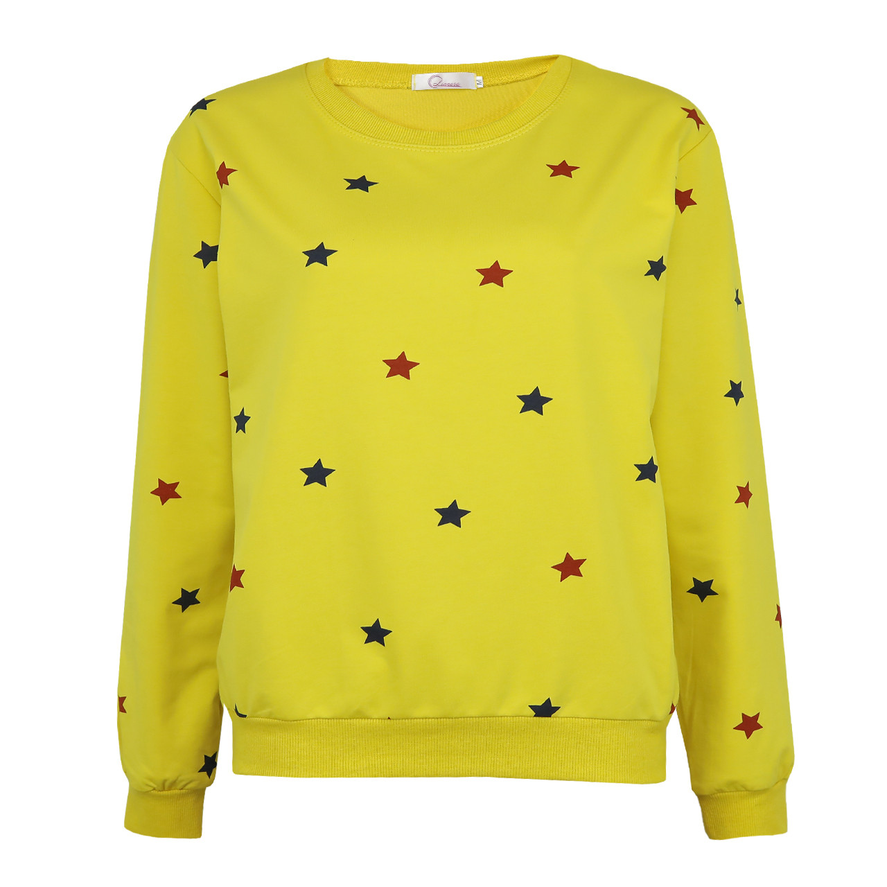 Кофта женская желтая, молодежный свитшот Lianara