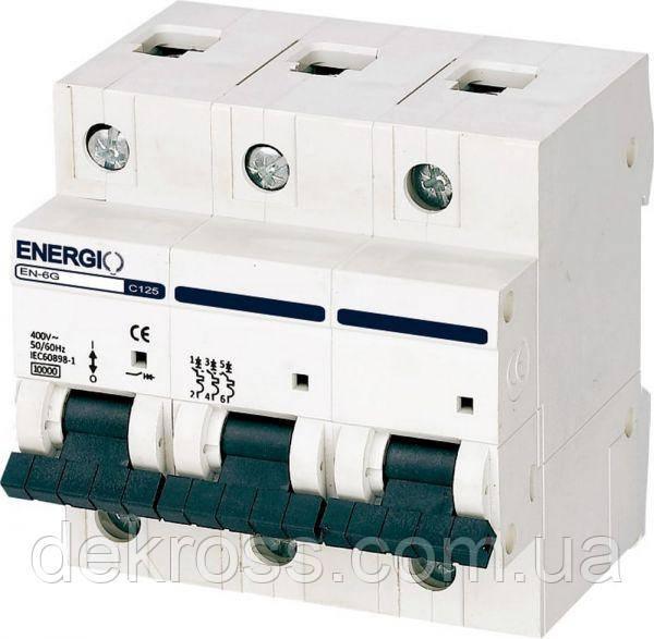 Автоматический выключатель ENERGIO EN 3P C 125А 6кА