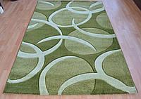 Рельефный ворсовый ковер оливкового цвета
