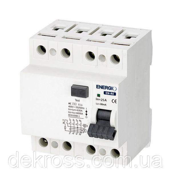 УЗО ENERGIO EN-RE 4P 25А 30мА тип AC