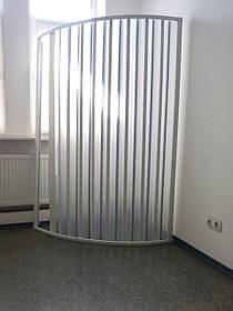 Шторка двері для душа напівкругла 90х90х185 см