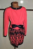 Платье на девочку кораловое подростковое 38,40 р