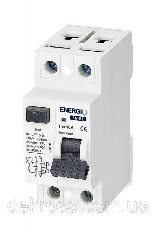 УЗО ENERGIO EN-RE 2P 40А 30мА тип AC
