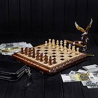Набор маленьких шахматных фигур из дерева ручной работы STRYI, фото 1
