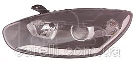 Фара левая электро черные Н7+Н7+DRL для Renault Megane 2014-16