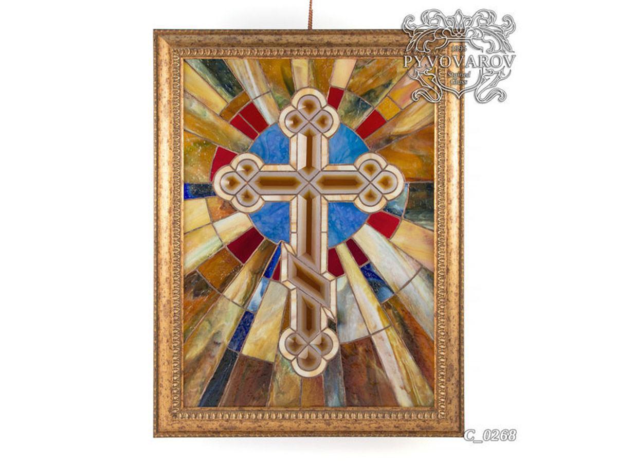 Картины из стеклла православный крест