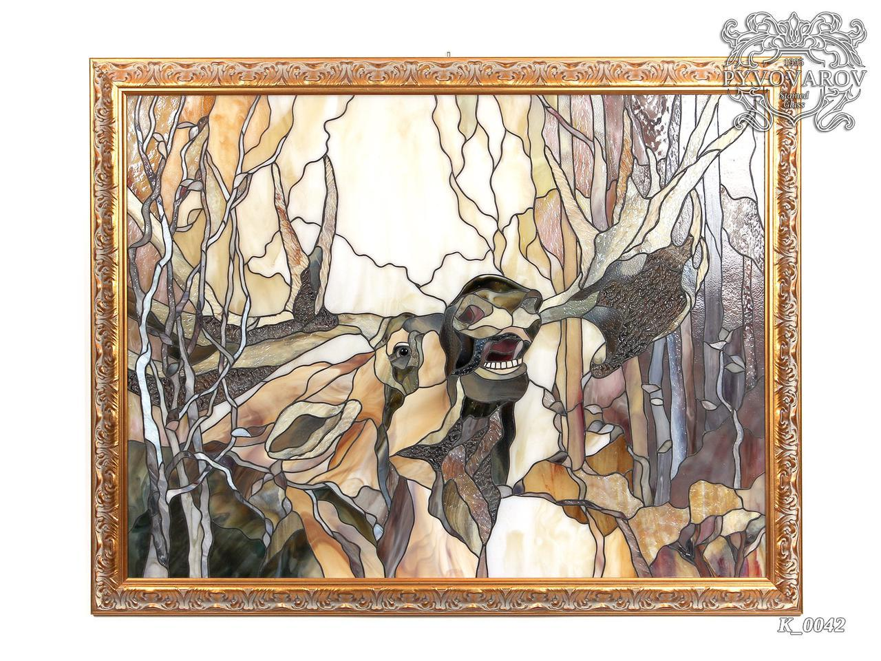 Картины из стекла Сохатый Лось