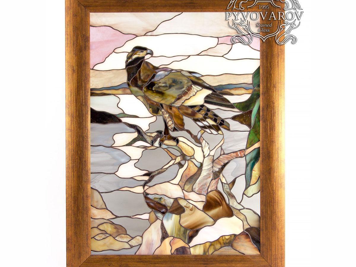 Картины из стекла Орел