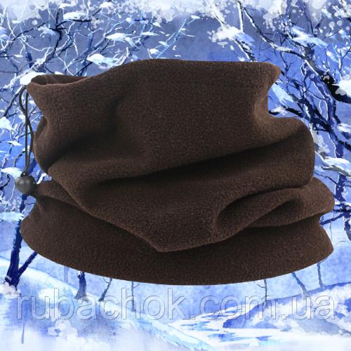 Бафф бандана шарф зимний флисовый