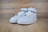 Кроссовки распродажа АКЦИЯ последние размеры Nike Air Force высокие белые кожа  550 грн 37(23.5см), люкс копия, фото 3