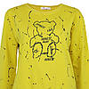 Молодіжний світшот жовтий жіночий, яскравий стильний оригінальний світшот Lianara Sweatshirt, фото 4