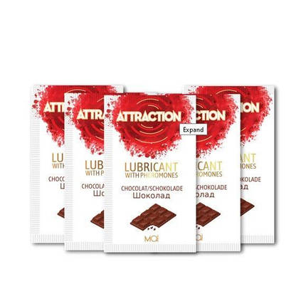 Пробник лубриканта с феромонами MAI ATTRACTION LUBS CHOCOLATE (10 мл) , фото 2