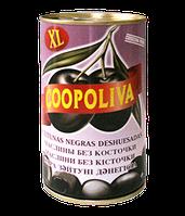 """Маслины """"Coopoliva"""" черные без косточки 370 г"""