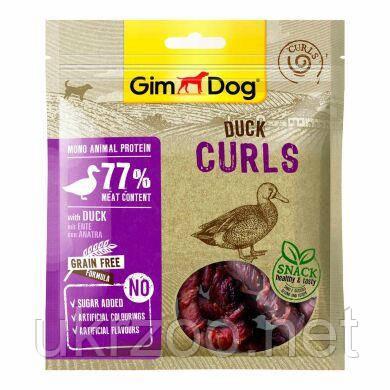 Лакомство для собак GimDog Superfood Meat Curls 55 г (утка) 541730