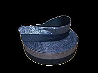 Резинка люрикс 5 см чёрная / серебро