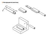 Штовхач врізний GIFF Pusher-1 сірий, фото 2