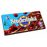 Шоколад молочный ORION Studentska Pecet с вишней и арахисом