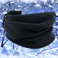 Зимний бафф флисовый черный