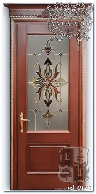 Классические витражи Тиффани в межкомнатные двери