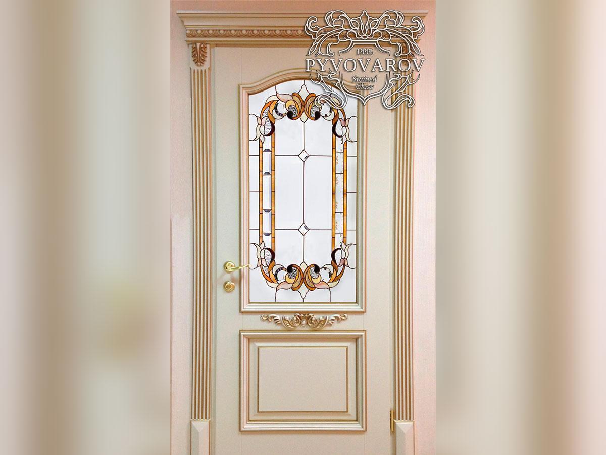 Витраж Тиффани в межкомнатные двери