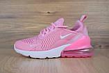 Кроссовки распродажа АКЦИЯ последние размеры Nike Air Max 270 розовые 550 грн 40й(25,5см), люкс копия, фото 4